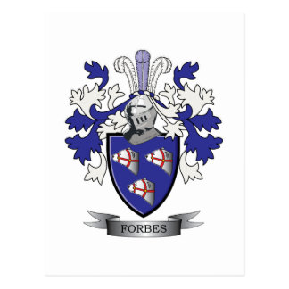 Forbes Family Crest Coat of Arms Postcard