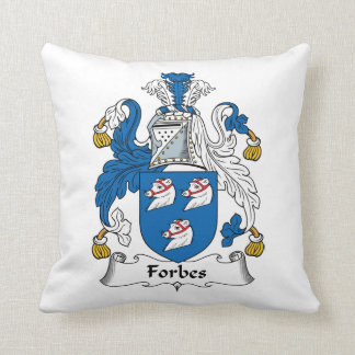 Forbes Family Crest Throw Pillow