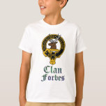 Forbes scottish crest and tartan clan name T-Shirt