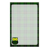 Forbes Tartan Plaid Owl Stationery