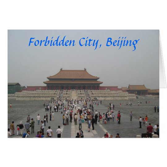 Forbidden City, Beijing Card