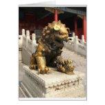 Forbidden City Bronze Lion Greeting Card