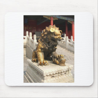 Forbidden City Bronze Lion Mouse Pad