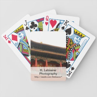 Forbidden City Building Bicycle Playing Cards