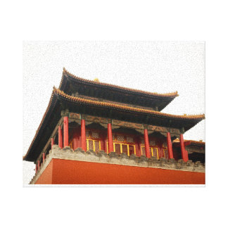 Forbidden City Building Canvas Print