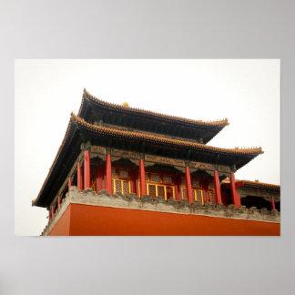 Forbidden City Building Poster