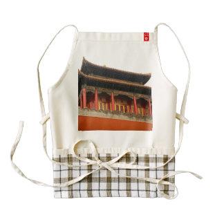 Forbidden City Building Zazzle HEART Apron