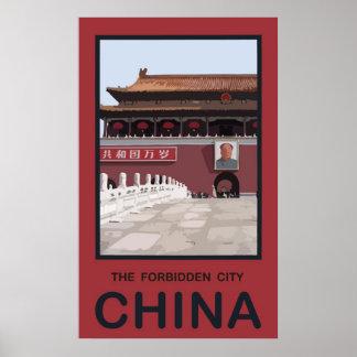 Forbidden City China Poster