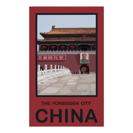 Forbidden City China Poster