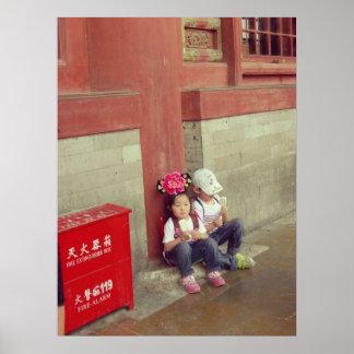 Forbidden city china poster chinese children
