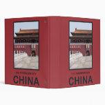 Forbidden City China Vinyl Binders