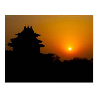 Forbidden City Sunset Postcard