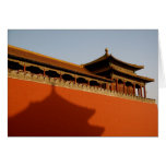 Forbidden City Wall Note Card