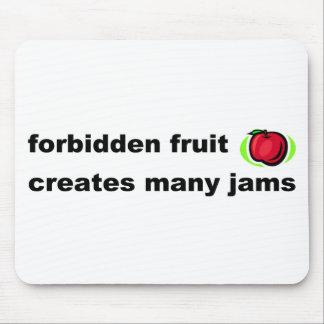 Forbidden fruit creates many jams mousepads