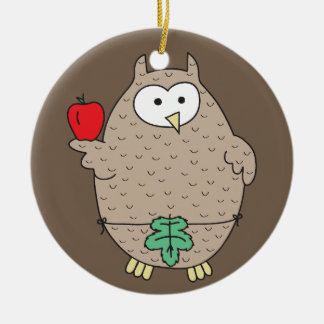 Forbidden Fruit Hoot Ceramic Ornament