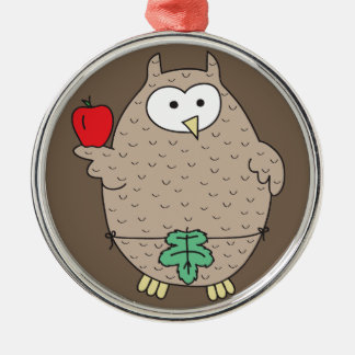 Forbidden Fruit Hoot Metal Ornament
