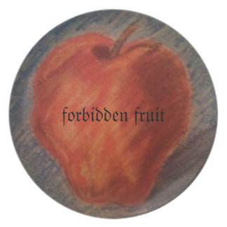 forbidden fruit dinner plate