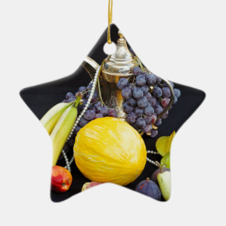 FORBIDDEN FRUITS - STILL LIVES CERAMIC ORNAMENT