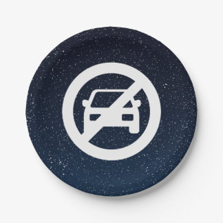 Forbidden Parkings Pictogram 7 Inch Paper Plate