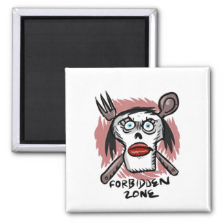 forbidden zone 2 inch square magnet