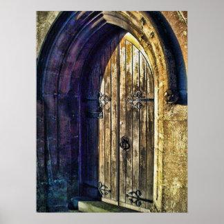 Forbidding Dark Doorway Poster