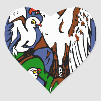 Forca Aerea Portuguesa Esquadra 101 Roncos Heart Sticker
