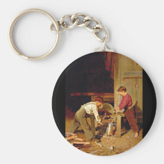 'Force and Skill', Charles_Great Work of Art Keychain