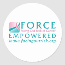 FORCE Facing Our Risk of Cancer Empowered Classic Round Sticker