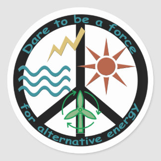 Force for Alternative Energy Classic Round Sticker
