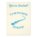 "Force is Home Frisbee 5"" X 7"" Invitation Card"
