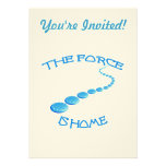 Force is Home Frisbee Custom Invitation