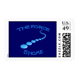 Force is Home Frisbee Postage Stamp