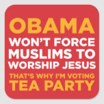 Force Muslims Square Stickers