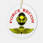 Force Recon Bubblehead Jumpwings Christmas Ornaments
