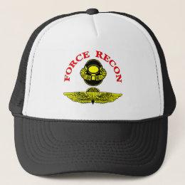 Force Recon Bubblehead Jumpwings Trucker Hat