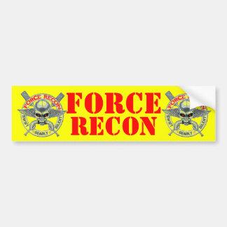 FORCE RECON CAR BUMPER STICKER