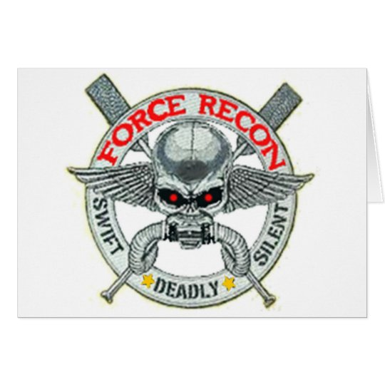 FORCE RECON CARD