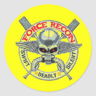 FORCE RECON CLASSIC ROUND STICKER