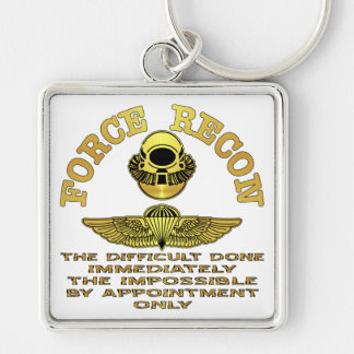 Force Recon Difficult Done Immediately Keychain