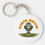 Force Recon Diver Jump Basic Round Button Keychain