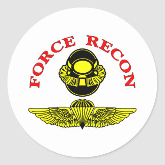 Force Recon Diver Jump Classic Round Sticker