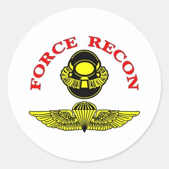 Force Recon Diver Jump Classic Round Sticker