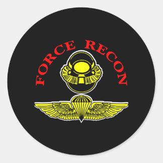 Force Recon Diver Jumpblack Classic Round Sticker