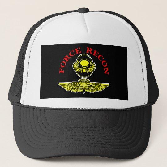 Force Recon Diver Jumpblack Trucker Hat