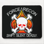 Force Recon Skull Black Mouse Pads