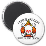 Force Recon Skull Refrigerator Magnet