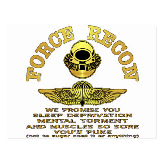 Force Recon We Promise You…. Post Cards