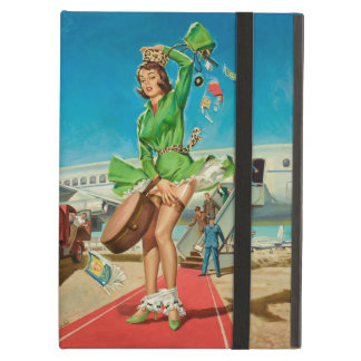Forced landing retro pinup girl iPad air case