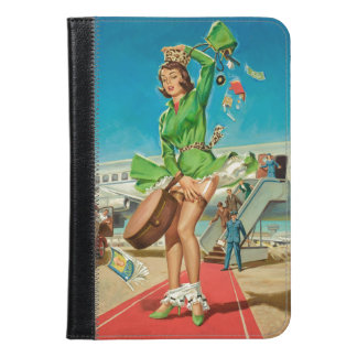 Forced landing retro pinup girl iPad mini case