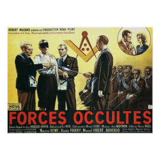 Forces occultes by Paul Riche 1943 Poster